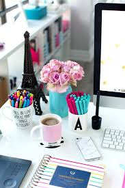 office desk accessories pink and blue simplified planner organizer sets office desk decoration items f75 decoration