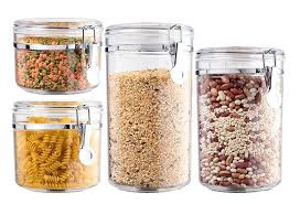 best dry food storage containers 4 piece airtight acrylic canister set dry food storage containers uk