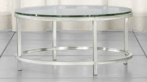 astounding round glass side table in era coffee reviews crate and barrel