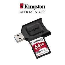 Thẻ Nhớ SD Kingston Canvas React Plus V90 cho camera quay phim chuyên  nghiệp 4K/8K 64GB MLPR2/64GB - Thẻ nhớ máy ảnh