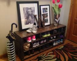 Boot Bench With Coat Rack Storage bench Etsy 86