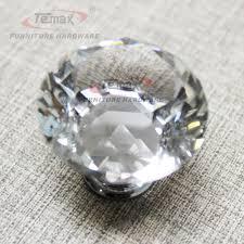 Glass Kitchen Cabinet Pulls 30mm Zinc Alloy Clear Crystal Sparkle Glass Kitchen Cabinet Knobs