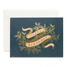 Birthday On Day Card Rifle Paper Co Greeting Card Happy Birthday On