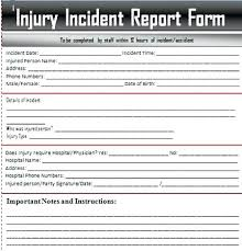 Student Incident Report Example Hospital Sample Patient Fall