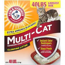 Cat Litter Comparison Chart Arm Hammer Multi Cat Clumping Cat Litter Scented 40lb Walmart Com