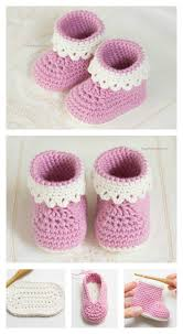 Crochet Patterns For Baby Inspiration Pink Lady Baby Booties Free Crochet Patterns
