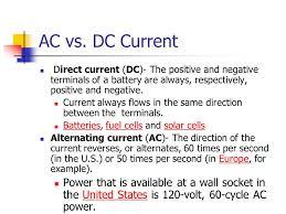 alternating current vs direct current. 42 ac vs. dc current direct alternating vs