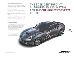bose car speakers. bose introduces two new sound systems for the 2014 chevrolet corvette stingray   business wire car speakers