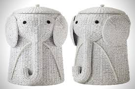 simple cool animal themed clothes hamper with elephant hamper.