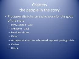 charters the people in the story