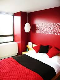 warm and bold bedroom colors red