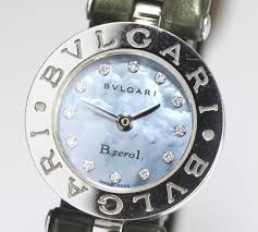 One Zero Box Pure Market Global Closer Blue B Lady's 12p Memo Belt Rakuten International Leather Guarantee Shell Quartz Watch B-zero1 Bz22s Bulgari