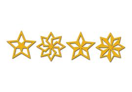 Baumschmuck Sterne Geo 4 Teilig