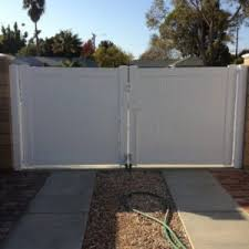 vinyl fence double gate. 15-double-gate-5 Vinyl Fence Double Gate