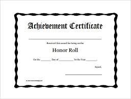 Award Certificates Word Fascinating Honor Roll Certificate Metalrus