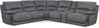 living room furniture mario 6 piece power reclining sectional with 3 reclining seats