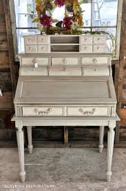 rustique restoration french gray and cream secretary desk french country vintage furniture