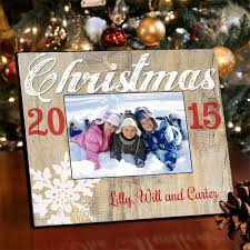 personalized holiday picture frame snowflakes