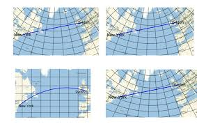 Polar Routes Charts Great Circle Routes On Chart Projections A The Polar