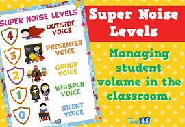 Super Noise Levels Superhero Theme Teacher Resources And