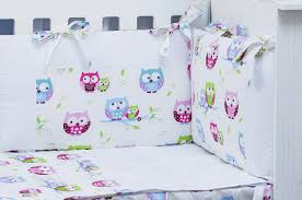 extra long padded per cot bed little owls collection vizaro