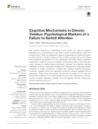 pdf ociation of chronic subjective tinnitus with neuro cognitive performance