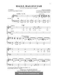hallelujah piano sheet music hallelu hallelujah by d perry j perry sheet music on musicaneo