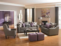 Purple Living Room Furniture Grape Juice Purple Living Room With Charcoal Wall Purple
