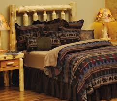 image of rustic cabin bedding design