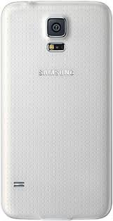 samsung galaxy s5 white. samsung galaxy s5 white - back view