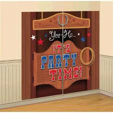 western saloon scene setter theme party hanging decoration wall decorating kit 1 of 1 see more