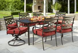 home depot deck furniture. Hampton Bay Middletown 7-Piece Patio Dining Set With Chili Cushions \u2013 $299.50 (Was $599 Home Depot Deck Furniture E