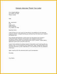 Example Of Thank You Letter After Interview Images Download Cv