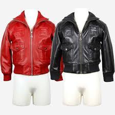 boys cute red black lambskin leather jacket sz 2t 3t 4t