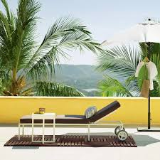 outdoor furniture west elm. Clean Lines, A Mix Of Wood Warm Woods And Powder Coated Metal, With Bit Golden Glitz Thrown In - We Like Many The Outdoor Offerings From West Furniture Elm