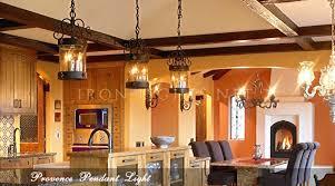 wrought iron pendant light kitchen
