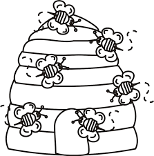 Small Picture Bumble Bee Beehive Coloring Pages Cartoon Download Cartoon
