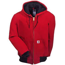 Carhartt J140RED Red Quilt Flannel Lined Duck Jack & Carhartt J140 Red Quilt Lined Duck Jacket Adamdwight.com