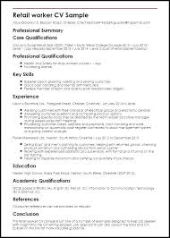 Example Of Professional Resume Amazing Sample Resume Cover Letter For Accounting Job Retail Jobs Examples