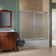 obscure glass shower doors. Tides Framed Bypass Shower Door Brushed Nickel Finish Obscure Glass 58\ Doors E