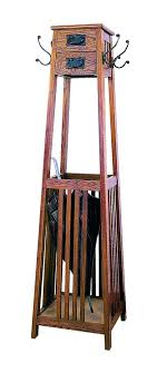 Oak Coat Rack Stand Adorable Coat Rack With Umbrella Stand Wood Coat Tree Umbrella Stand Mission