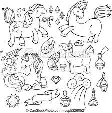 Unicorni Potions Set Magia Ali Set Pony Collection