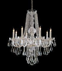 crystorama 1108 pb cl mwp 8 light polished brass crystal chandelier dd in