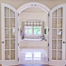 china double swing arched glass wood
