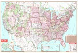 Interstate Mileage Chart United States 140x90 Laminated Wall Map Universalmap