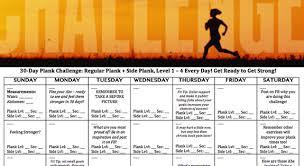 21 Day Plank Challenge Chart 30 Day Plank Challenge Health