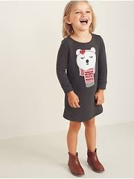 Toddler <b>Girls Long</b>-<b>Sleeve</b> & 3/4 Sleeve <b>Dresses</b> & Jumpsuits | Old ...