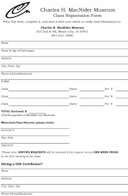 Enrolment Form Template Student Enrollment Form Template 20