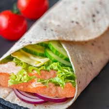 healthy salmon caesar salad wrap recipe ...