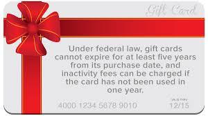 do gift cards expire